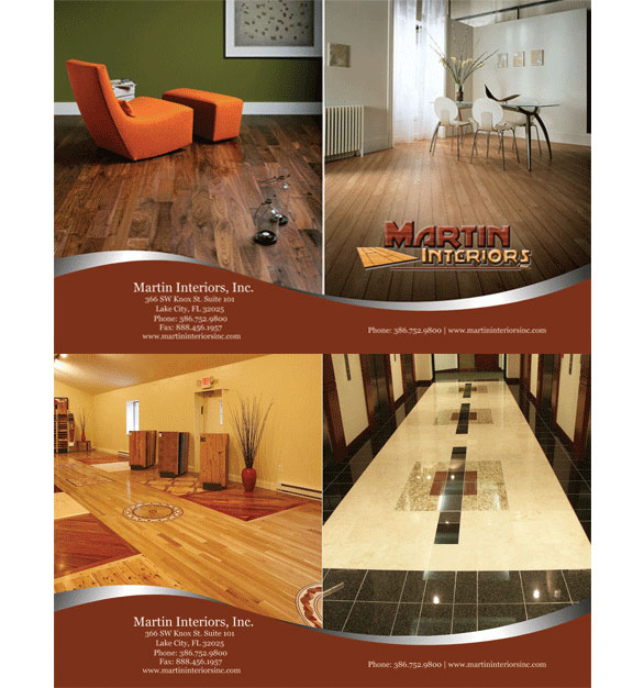 Martin Interiors. Print media for a flooring company in Lake City Florida