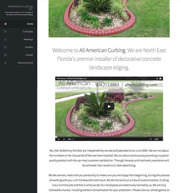 All American Curbing, a curbing company located in Jacksonville Florida