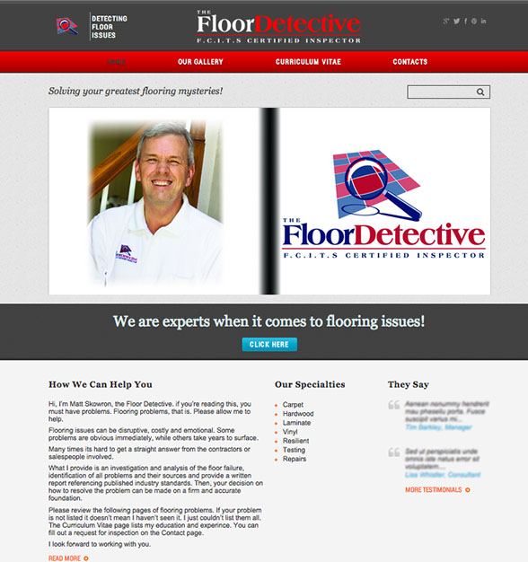 Floor Detective. Nationwide company that determines causes of issues in all flooring types