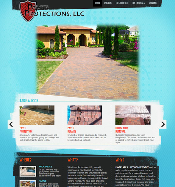 Paver Protections, a company based in North Florida focused on sealing pavers